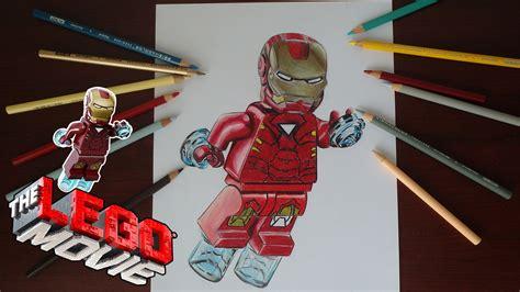 como dibujar  iron man lego   draw lego iron man