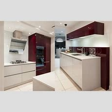 Exdisplay Aubergine & Light Grey Gloss Kitchen And Smeg