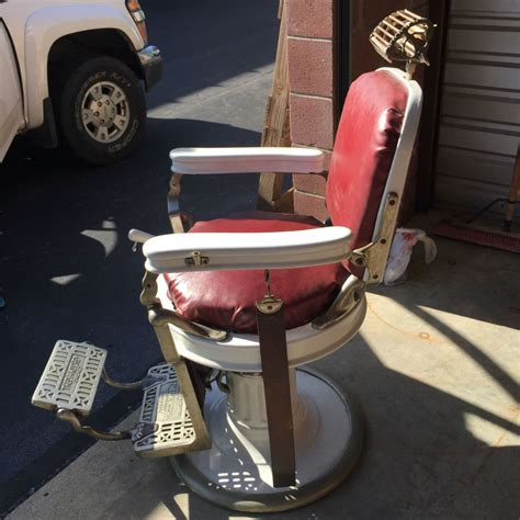 koch barber chair headrest 1920 s theo a kochs barber chair