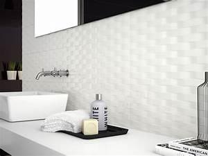 carrelage mur salle de bain noir blanc With salle de bain carrelage blanc