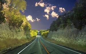 Nature, Road, Trees, Clouds, Wallpapers, Hd, Desktop, And, Mobile, Backgrounds