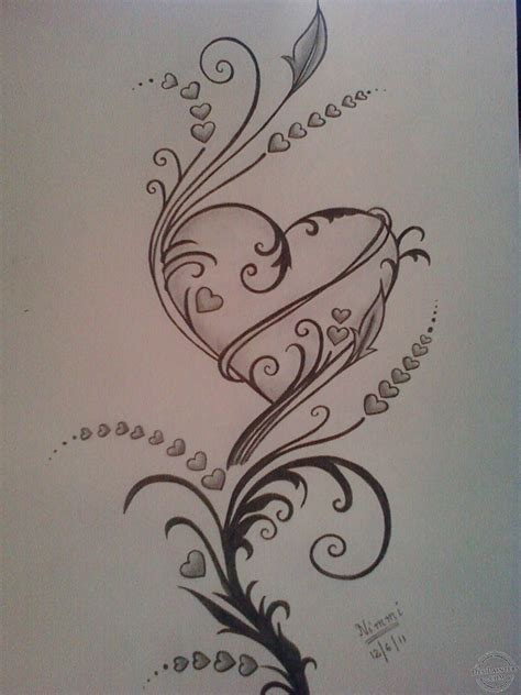 hearts desipainterscom pencil drawing images heart