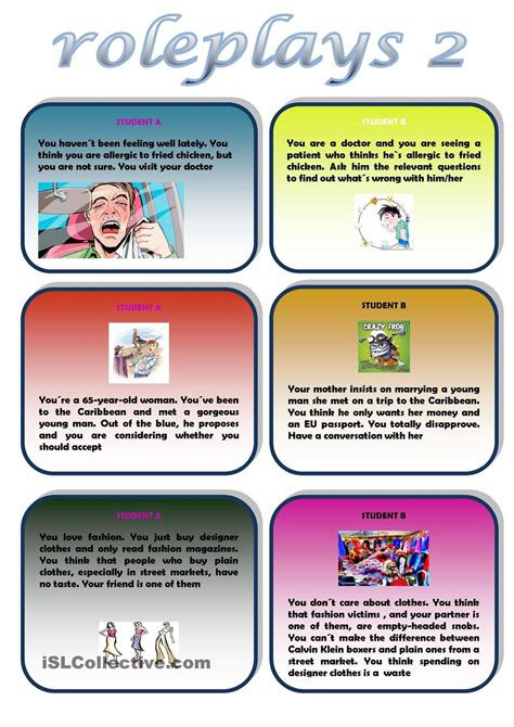 roleplays   images speaking activities english