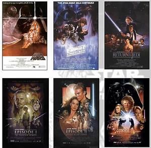 Poster Star Wars : star wars deluxe poster set all 6 movie posters ebay ~ Melissatoandfro.com Idées de Décoration