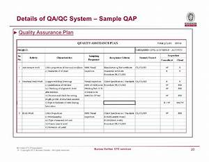 fancy quality plan template component example resume With contractor quality control plan template