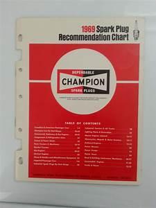 1969 Champion Spark Plug Recommendation Chart