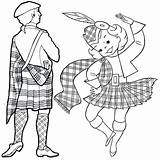 Coloring Scottish Country Dance Pages Scotland Territories Culture Learning sketch template
