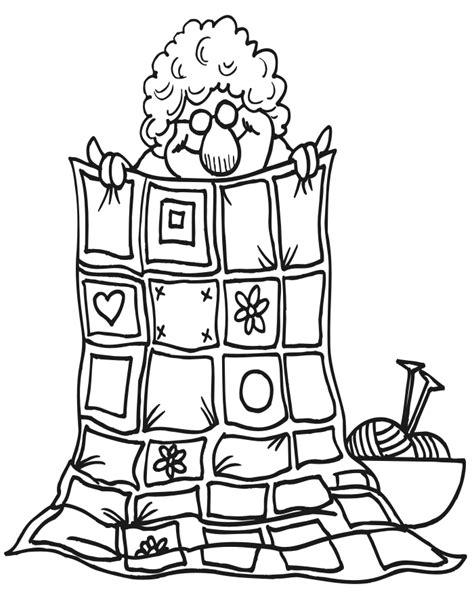 quilt coloring pages  print grandma quilt  colors