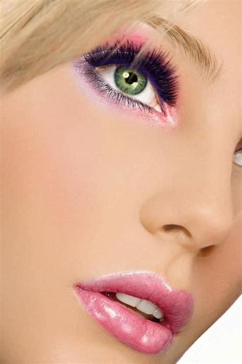 hot pink eye makeup    pretty designs