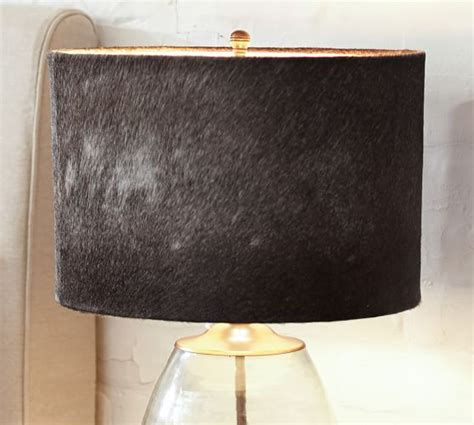 rhea cow hide l shade pottery barn