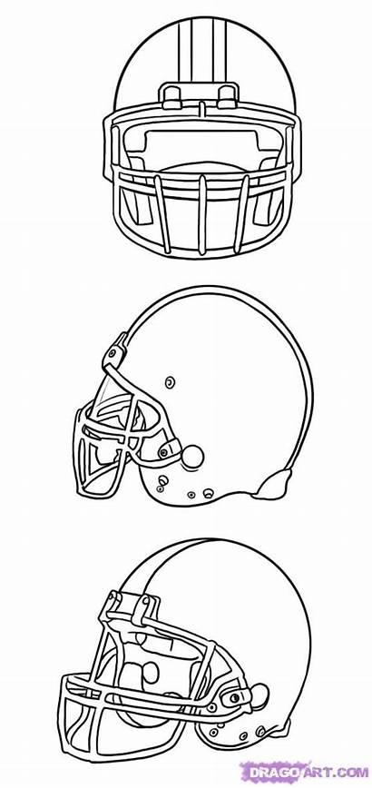 Football Draw Helmet Step Sports Template Printable