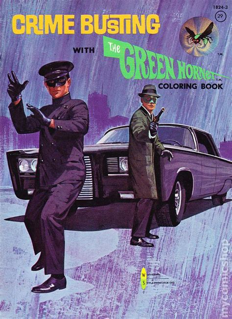 crime busting   green hornet coloring book  comic books