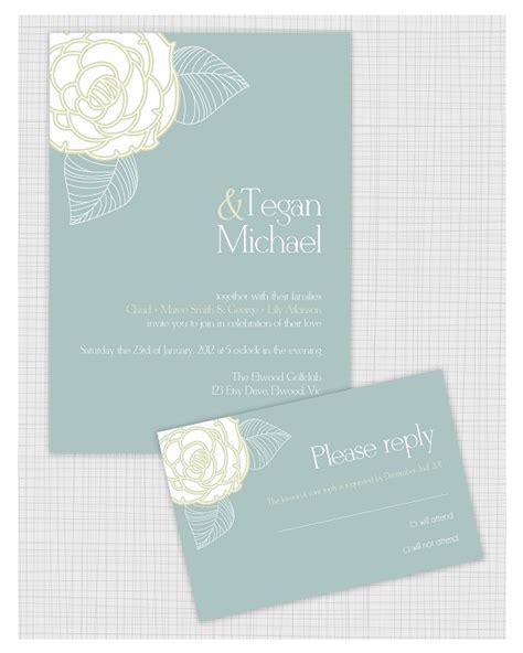10 PSD Wedding invitation templates Matching Reply RSVP
