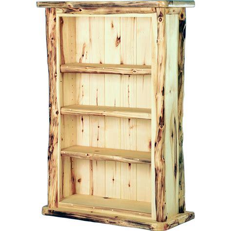 bookshelves rustic aspen bookcase Rustic