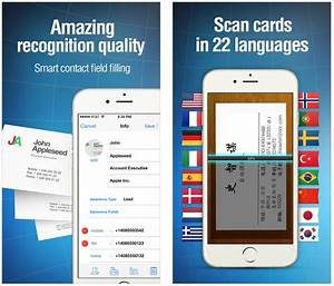 The best business card scanner apps for iphone for Business card iphone app