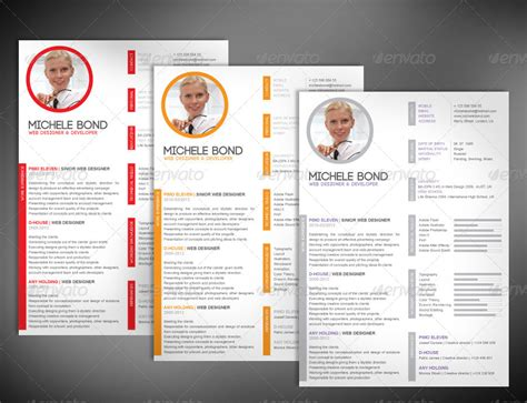 14914 modern business resume modern professional resume by milana graphicriver