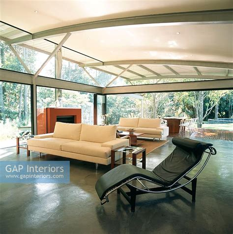 Spacious Modern Living Room Interiors by Gap Interiors Spacious Modern Living Room With Le