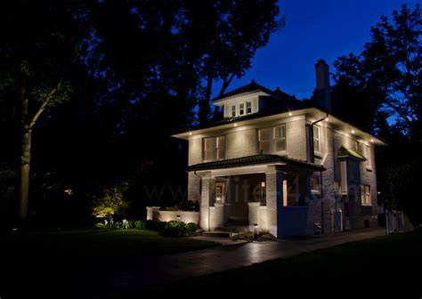 Kitchen Soffit Ideas - 2 story renovation traditional exterior indianapolis by lite4 outdoor lighting