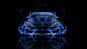 BMW M4 Front Fire Abstract Car 2014 el Tony