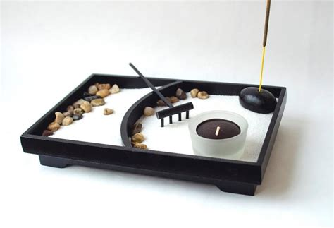 Zen Garden  Desk Accessory  Mini Zen Garden Office Decor