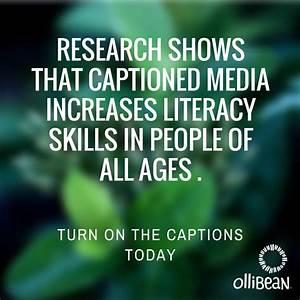 Closed Captioning Improves Literacy Skills