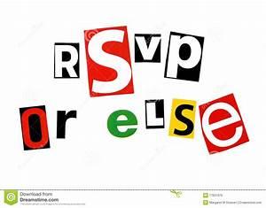 Rsvp Or Else Royalty Free Stock Images