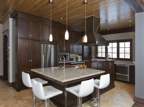 cuisine brun armoires de cuisine personnalisées cuisines bernier