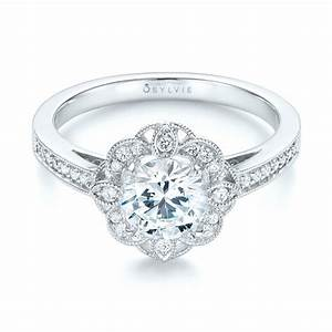 Fancy halo diamond engagement ring 103048 for Fancy diamond wedding rings