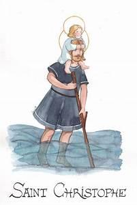 Saint Christophe Patron : aquarelle de saint christophe patron des voyageurs dessine moi ~ Medecine-chirurgie-esthetiques.com Avis de Voitures