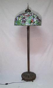 tiffany oriental poppy reproduction floor lamp With reproduction tiffany floor lamp