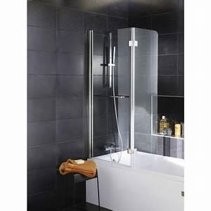 Paroi Douche Lapeyre : pare baignoire 2 volets paroi de baignoire 112 x 150 cm ~ Premium-room.com Idées de Décoration