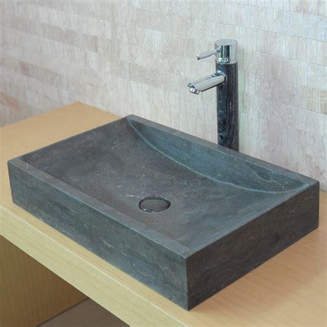 calcaire carrelage salle de bain vasque en rectangulaire len calcaire gris fonc 233 indoor by
