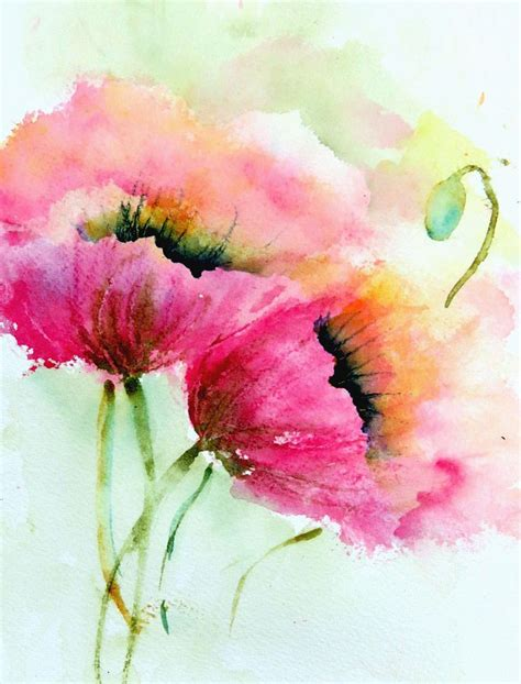 25 best ideas about poppies painting on