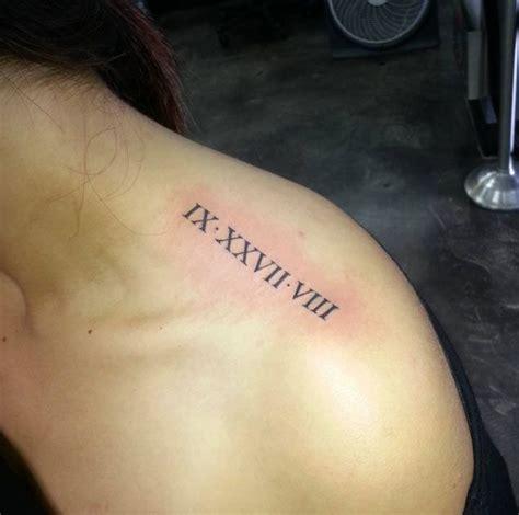 exquisite roman numeral tattoo designs tattoos  women pinterest roman numeral