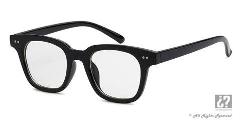 Nerd Eyewear Nerd 056 Old School Retro Thick Frame Clear