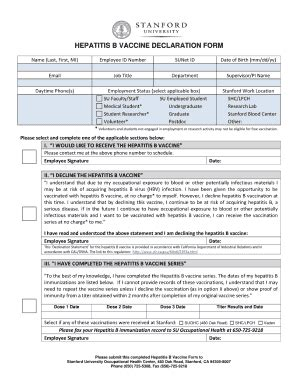 33 printable immunization record forms and templates