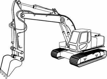 Excavator Coloring Pages Equipment Heavy Bulldozer Dozer