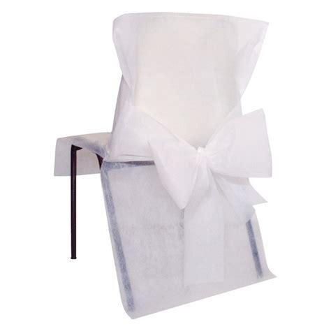 housses de chaise blanches x10 noeud en non tiss 233 maplusbelledeco