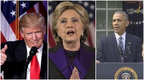 obama trump clinton hillary donald barack between difference differences speeches speech supporters america aside side election unified bid victory president