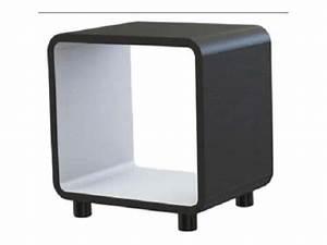 Table De Chevet Blanche Ikea : chevet boxi coloris noir blanc vente de chevet conforama ~ Nature-et-papiers.com Idées de Décoration
