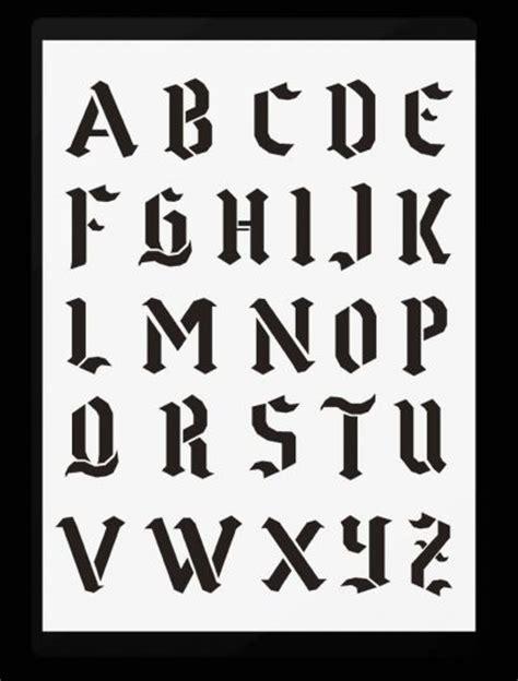 schrift schablonen gotische buchstaben von   hobby