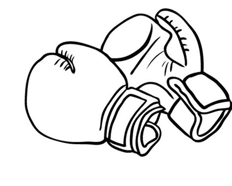 Printable Boxing Gloves Coloring Pages
