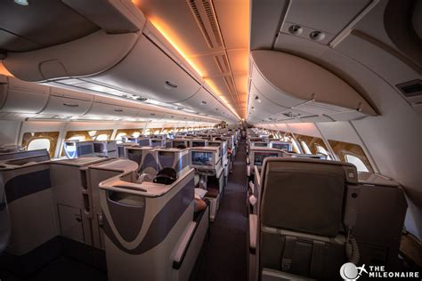Business Class Cabin Emirates Emirates Business Class A380 Review Photo Report The