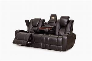 Reclining sofa with cup holders militariartcom for Sectional sofa with bed and recliner