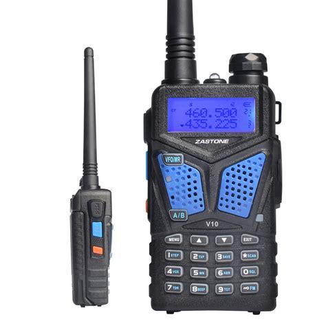 zastone v10 walkie talkie professional range handheld cb radio transceiver uhf vhf for two