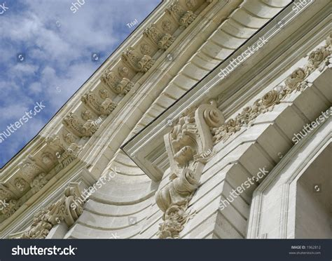 ornament s details on ancient facade stock photo 1962812
