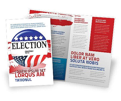 Election Brochure Template by Usa Elections Brochure Template Design And Layout