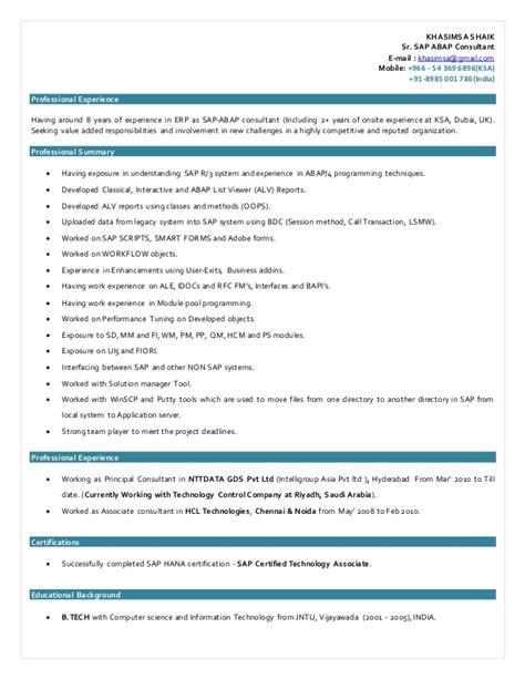 Abap Resume India by Khasimsa Shaik 7 Abap Ksa Resume