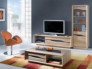 Meuble Salon Bois : meuble tv design contemporain ce820n ~ Teatrodelosmanantiales.com Idées de Décoration