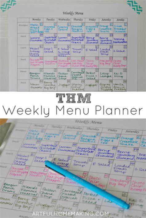 Trim Healthy Mama Weekly Food Log Template by A Trim Healthy Mama Menu Plan Free Printable Menu